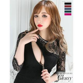 AngelR - glossy グロッシー ドレス ジップ ブラック