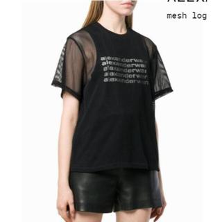 アレキサンダーワン(Alexander Wang)のアレキサンダーワン メッシュレイヤードTシャツ ブラック XS(Tシャツ(半袖/袖なし))