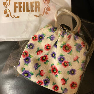 FEILER - フェイラー アネモネプティ ホワイト ショルダー巾着バッグ 新品・未開封