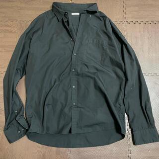 ジーユー(GU)のGU 長袖シャツ 黒(シャツ)