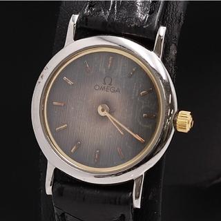 オメガ(OMEGA)の【正規品】OMEGA オメガ クォーツ 2針 石入り デビル レディース 保証書(腕時計)