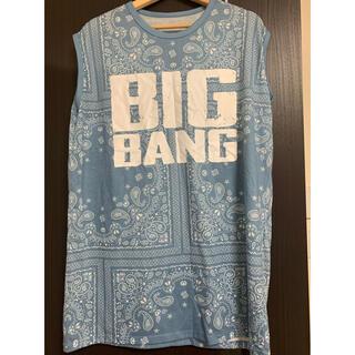 ビッグバン(BIGBANG)のBIGBANG ノースリーブシャツ ペイズリー ライブTシャツ(アイドルグッズ)