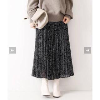 スピックアンドスパン(Spick and Span)のSpick and Span ドットシフォンプリーツスカート 36サイズ(ロングスカート)