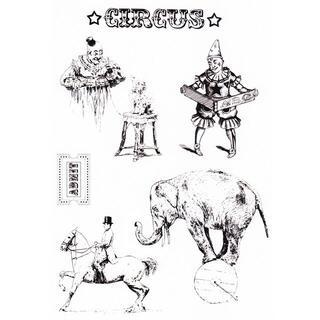 クリアスタンプ サーカスと動物