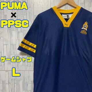 プーマ(PUMA)の【PUMA×PPSC】USA古着 ゲームシャツ ネイビー×イエロー Lサイズ(Tシャツ/カットソー(半袖/袖なし))