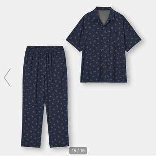 GU - カービィ パジャマ メンズ ジーユー レディース グレー ネイビー