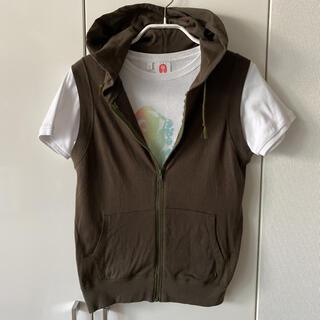 オリーブデオリーブ(OLIVEdesOLIVE)のOLIVE des OLIVE フード付ベスト&Tシャツセット(セット/コーデ)