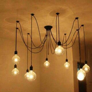 ◆北欧風 フェザーシャンデリア ベッドサイドライト ペンダントライト照(天井照明)