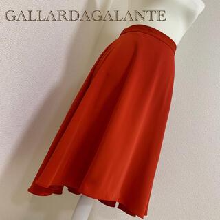 ガリャルダガランテ(GALLARDA GALANTE)の【中古美品】GALLARDAGALANTEサーキュラースカート赤*サイズ1(ひざ丈スカート)