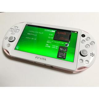 プレイステーションヴィータ(PlayStation Vita)の極美品送料込PSVITA本体PCH-2000 【変革henkakuアダプター付】(携帯用ゲーム機本体)