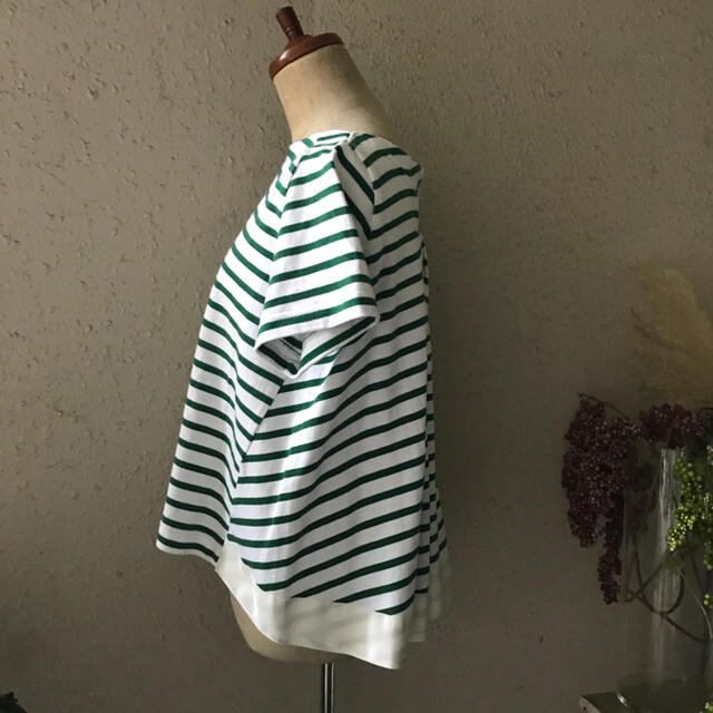 sacai luck(サカイラック)のサカイ sacai ボーダーバックデザインTシャツ  レディースのトップス(Tシャツ(半袖/袖なし))の商品写真