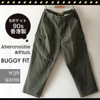 Abercrombie&Fitch - アバクロンビー&フィッチ★90s香港製★6ポケットミリタリー★バギーパンツw92