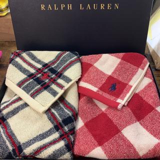 ラルフローレン(Ralph Lauren)のラルフローレン フェイスタオルセット 2枚 新品(タオル/バス用品)