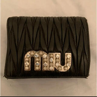 miumiu - MIUMIU 黒 折り財布 1時間限定お値下げ