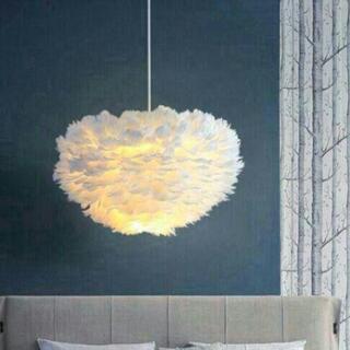 北欧ロマンチックなベッドルームのシャンデリア照明器具の女の子の羽(天井照明)