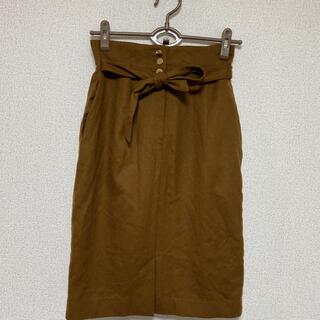 ナノユニバース(nano・universe)のnano・universe☆ウエストリボンデザインスカート(ひざ丈スカート)
