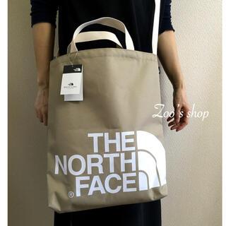 THE NORTH FACE - 在庫1 ノースフェイス ビックロゴトート ベージュ 韓国限定