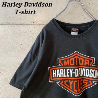 ハーレーダビッドソン(Harley Davidson)の激レア!! harley-davidson ビックロゴ Tシャツ USA製(Tシャツ/カットソー(半袖/袖なし))