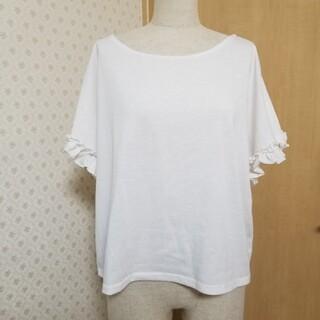 メルロー(merlot)の【merlot】袖フリル半袖Tシャツ(Tシャツ(半袖/袖なし))