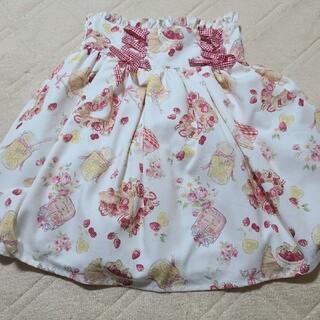 リズリサ(LIZ LISA)のリズリサ オリジナル柄 スカート ホワイト(ミニスカート)
