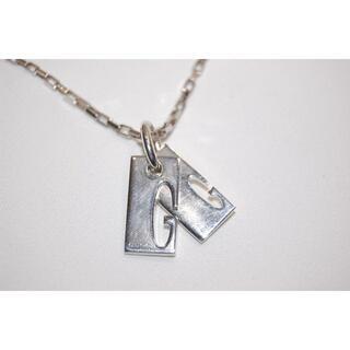 グッチ(Gucci)のグッチ GUCCI カットインGダブルプレート ネックレス AG925 60cm(ネックレス)