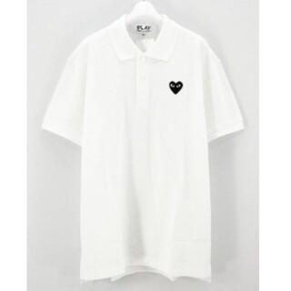コムデギャルソン(COMME des GARCONS)のプレイコムデギャルソン ポロシャツ ホワイトL(ポロシャツ)