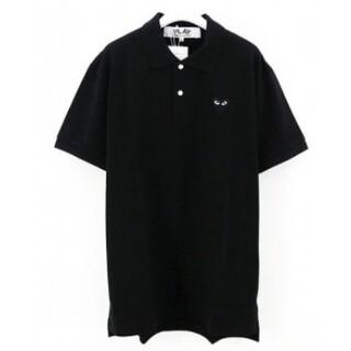 コムデギャルソン(COMME des GARCONS)のプレイコムデギャルソン ポロシャツ ブラックL(ポロシャツ)