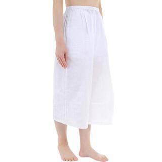 ステテコ レディース 和装 下ばき クレープ生地 綿100% Lサイズ(浴衣)