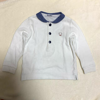 ファミリア(familiar)のポロシャツ セーラー襟 ファミちゃん ファミリア 90 白 ホワイト デニム調(Tシャツ/カットソー)