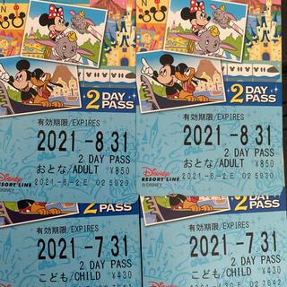 ディズニー(Disney)のディズニーリゾートライン チケット モノレール(鉄道乗車券)