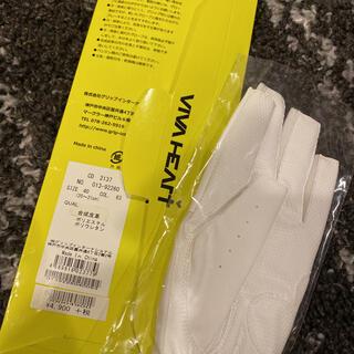 ビバハート(VIVA HEART)のゴルフ手袋片手 フリーサイズ 指空き(ウエア)
