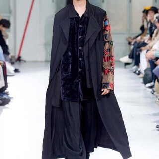 Yohji Yamamoto - Yohji Yamamoto ヨウジヤマモト 紋章Aゴールド袖ドレス