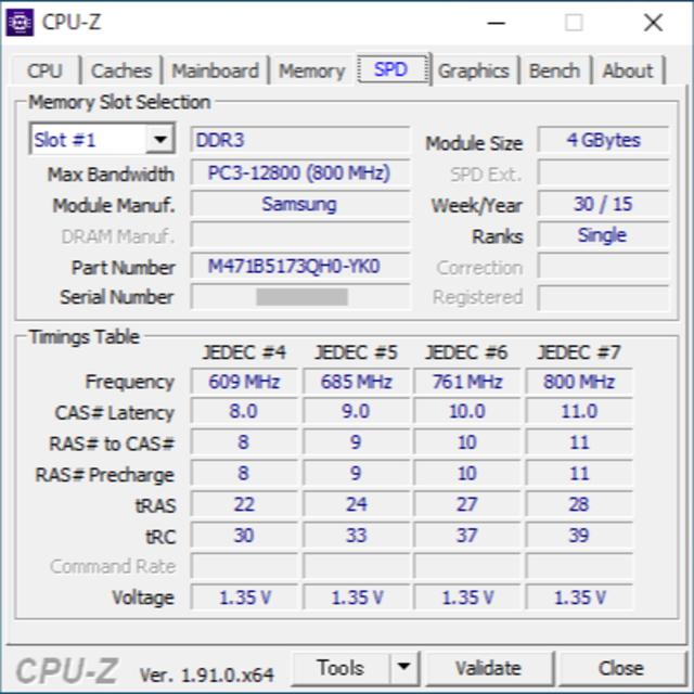 SAMSUNG(サムスン)のサムスン純正 DDR3L-1600 8GB 4GBx2 ノートパソコン用メモリ スマホ/家電/カメラのPC/タブレット(PCパーツ)の商品写真