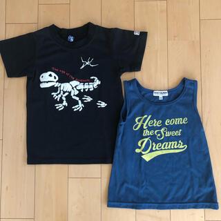 ニシマツヤ(西松屋)のキッズ Tシャツ、タンクトップ 2枚セット (Tシャツ/カットソー)