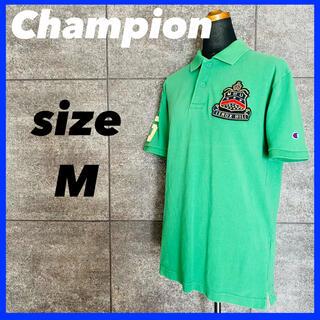 チャンピオン(Champion)のCHAMPION チャンピオン 半袖 ポロシャツ メンズ  グリーン サイズM(ポロシャツ)