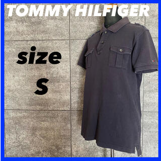 トミーヒルフィガー(TOMMY HILFIGER)のTOMMY HILFIGER トミーヒルフィガー ポロシャツ サイズS ネイビー(ポロシャツ)