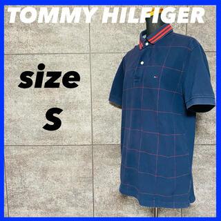 トミーヒルフィガー(TOMMY HILFIGER)のTOMMY HILFIGER トミーヒルフィガー ポロシャツ ネイビー サイズS(ポロシャツ)
