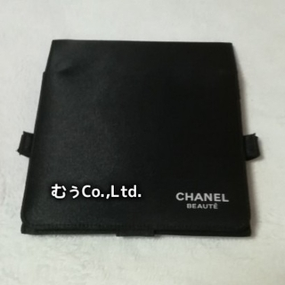 CHANEL - CHANEL ノベルティ ミラー付き コスメポーチ ブラシ収納可能 コスメBOX