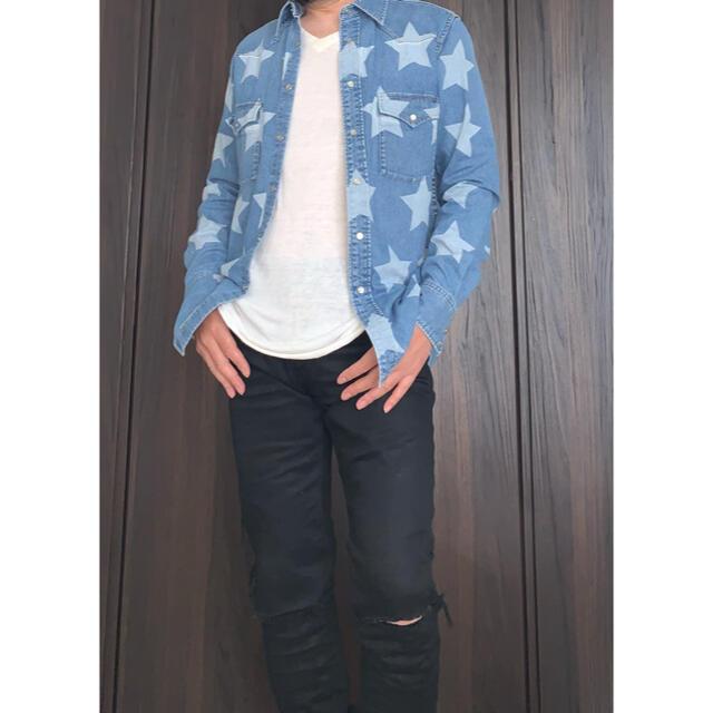 Saint Laurent(サンローラン)のサンローランパリ スタープリントデニムシャツ サイズL メンズのトップス(シャツ)の商品写真