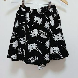 ジディー(ZIDDY)の【新品】 ZIDDY ジディー ヤシの木柄スカート スカパン150 bebeベベ(スカート)