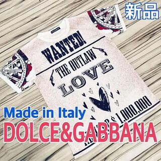 ドルチェアンドガッバーナ(DOLCE&GABBANA)の新品 DOLCE&GABBANA ドルガバ イタリア製 Tシャツ L 送料込(Tシャツ/カットソー(半袖/袖なし))