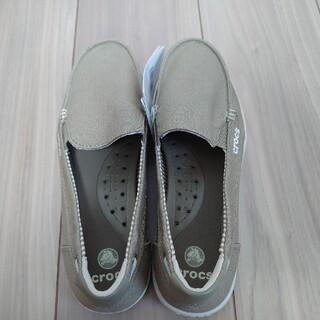 crocs - クロックス レディース ワルー キャンバス ローファー 24センチ