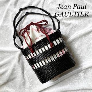 Jean-Paul GAULTIER - 【超希少】ジャンポールゴルチェ かごバッグ 巾着 総柄 ハンドバッグ ノット