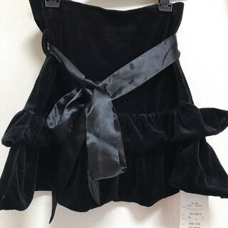 リズリサ(LIZ LISA)の黒フリルスカート トゥーララリズリサ(ミニスカート)