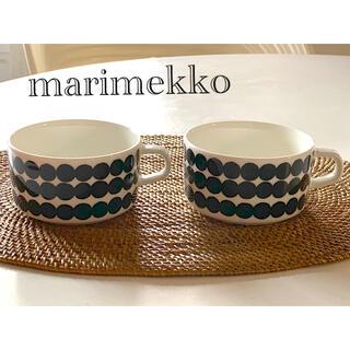marimekko - マリメッコ☆シイルトラプータルハ ティーカップ☆スープカップ 2個セット♪