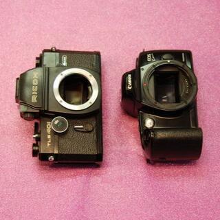 フイルムカメラ RICOHとCANONの2台(フィルムカメラ)