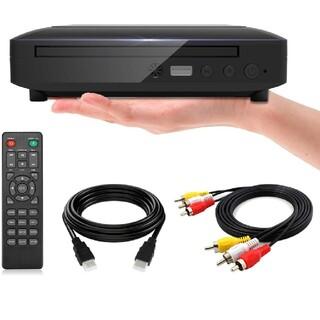 ミニDVDプレーヤー 1080Pサポート DVD/CD再生専用モデル