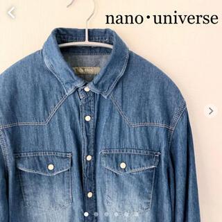 ナノユニバース(nano・universe)のnano・universe ナノユニバース デニムシャツ 七分袖 Mサイズ(シャツ)