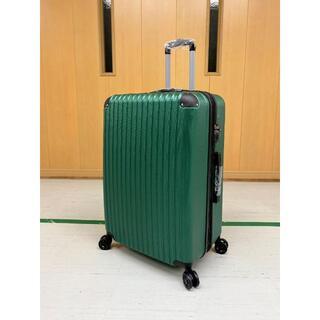 中型軽量スーツケース 8輪静音キャリーバッグTSAロック付き Mサイズ グリーン(旅行用品)