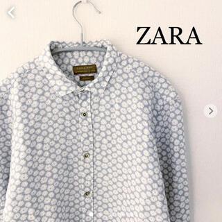 ZARA - ZARA ザラ 花柄 長袖シャツ Sサイズ